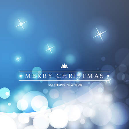 Best Wishes - Colorful Modern Style Happy Holidays, Merry Christmas Greeting Card with Label on a Sparkling Blurred Background