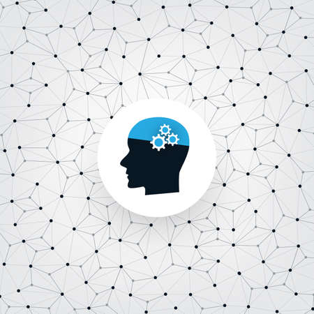 Machine Learning, Artificial Intelligence, Smart Technology and Network Communication Concept