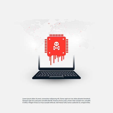 Laptop Equipped with a Processor Affected by Meltdown and Specter Critical Security Vulnerabilities, Which Enable Cyber Attacks, Password or Personal Data Leak on Computers and Mobile Devices