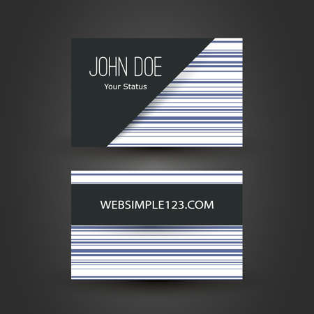 Colorful Modern Style Business Card Template, Back and Front Side, Vector Design Illustration