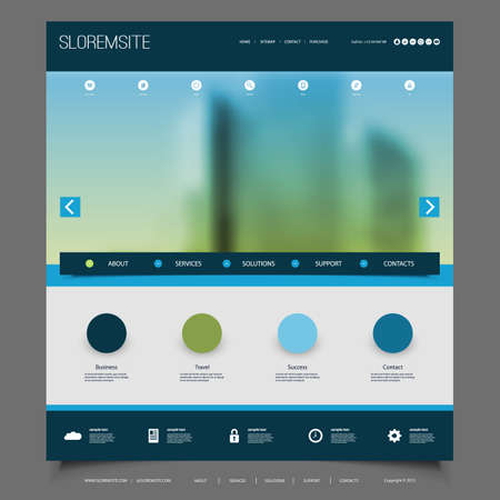Website Design for Your Business with Blurred Skyscraper Image Background
