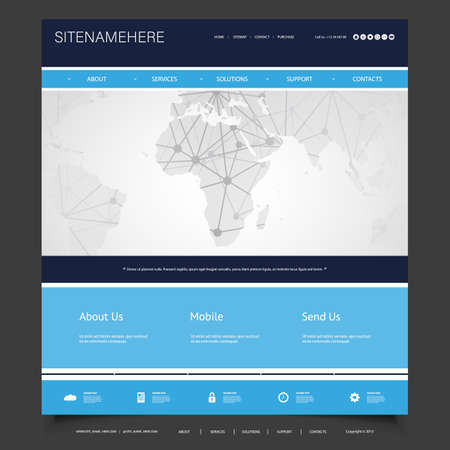 Global business connections computer networks website template global business connections computer networks website template design stock vector 95568929 flashek Image collections