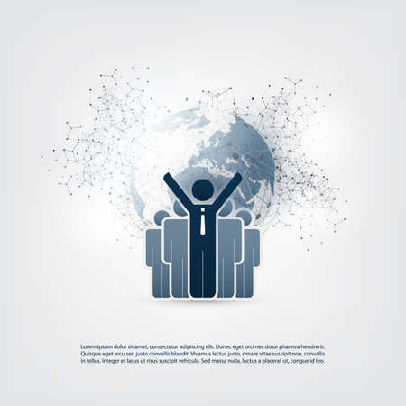 Networks - Online Business Communication. Remote Work Concept Design