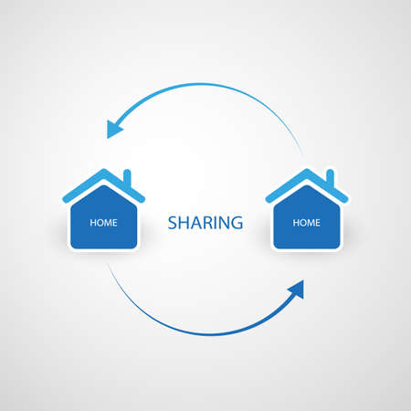 Sharing Economy - Home Renting or Peer to Peer Accommodation Design Concept