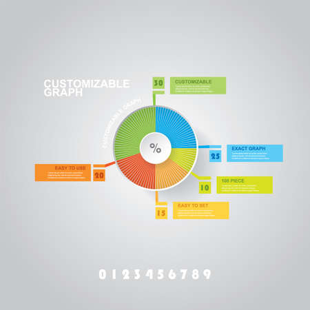 Customizable Infographic Design With Pie Chart And Labels Royalty