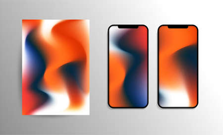 Abstract Wallpaper for Smartphone or Tablet - Modern Progressive Colorful Background or Cover Design Template