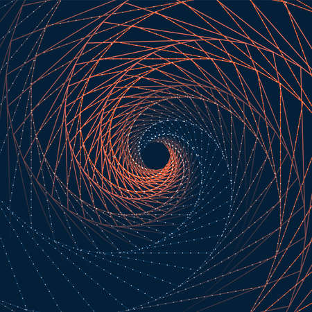 Abstract Background with Spiralling Lines Pattern