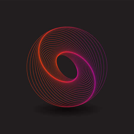 Abstract Design with Spiralling Lines Pattern
