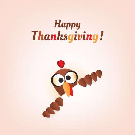 Happy Thanksgiving Card Design Vectores