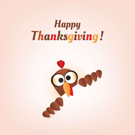 Happy Thanksgiving Card Design Illustration