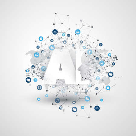 Artificial Intelligence, Internet of Things and Smart Technology Concept Design