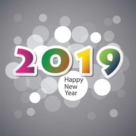 Best Wishes - New Year Card, Cover or Background Design Template - 2019 스톡 콘텐츠 - 111031526