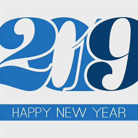 I migliori auguri - Biglietto di auguri di felice anno nuovo stile retrò astratto o sfondo, modello di design creativo - 2019