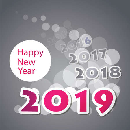 Best Wishes - New Year Card, Cover or Background Design Template - 2019