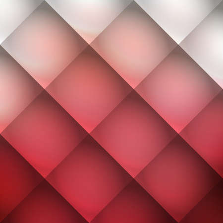 Abstract Mosaic Background Design with Red and Silver Grey Colors