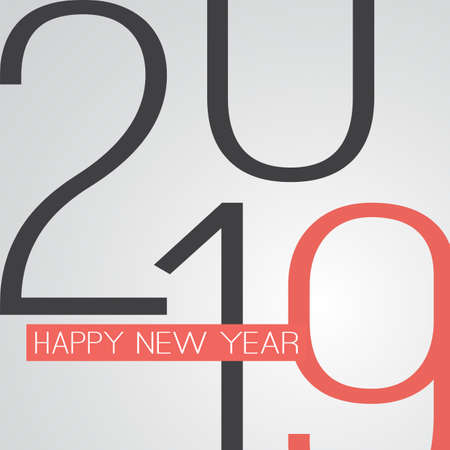 Best Wishes - Retro Style Happy New Year Greeting Card or Background, Creative Design Template - 2019 Archivio Fotografico - 113356257