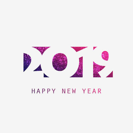 Best Wishes - Abstract Purple Modern Style New Year Banner Design Template for Seasonal Holidays, Happy New Year Greeting Cards, Flyers or Backgrounds - 2019