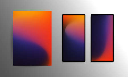 Abstract Wallpaper for Smart Phone or Tablet - Modern Progressive Colorful Background or Design Element Template