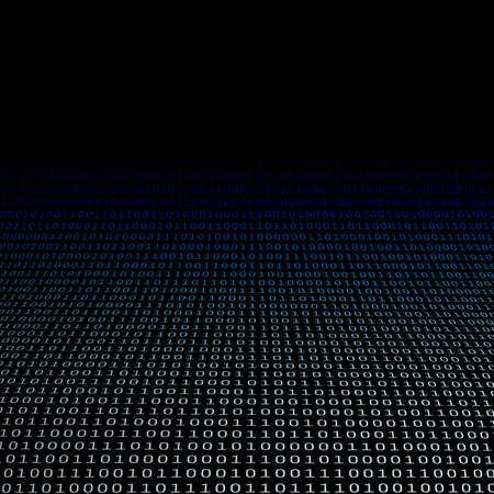 Digital Matrix, Bits Pattern of Ones and Zeros - Abstract Modern 3D Digital Information Vector Background or Wallpaper Template for Business, IT or Technology