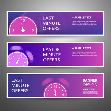 Last Minute Offer Headers or Banners Template for Your Advertisement