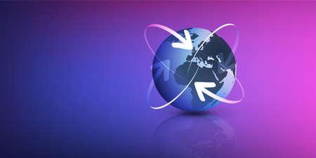 Earth Globe Design - Global Business, Technology, Globalisation Concept, Vector Design Template