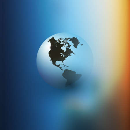 Earth Globe Design - Eco, Globalisation, Global Business, Technology Concept, Event Poster, Vector Template