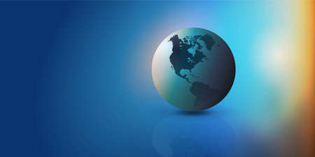 Colorful Earth Globe Design Layout - Applicable for Eco, Globalization, Global Business, Technology Concepts, Backdrops or Event Posters - Vector Template