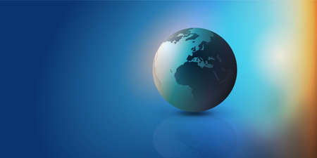 Colorful Earth Globe Design Layout - Applicable for Eco, Globalization, Global Business, Technology Concepts, Backdrops or Event Posters