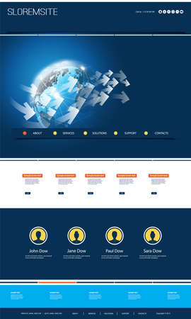 Colorful Website Design for Your Business with Earth Globe