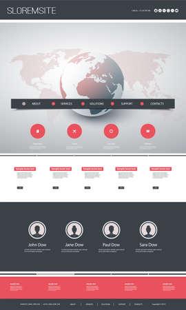 Kolorowy projekt strony internetowej dla Twojej firmy z Earth Globe