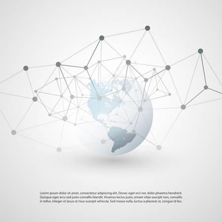 Cloud Computing et Global Networks Concept Design avec Earth Globe Vecteurs