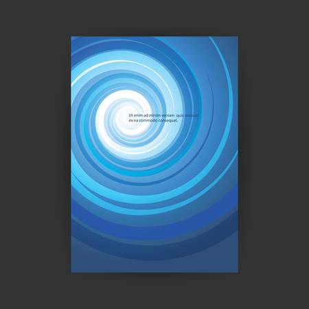 Flyer or Cover Design with Swirling Abstract Background