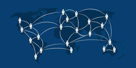 Networks - Business Connections - Social Media Concept Design Illustration