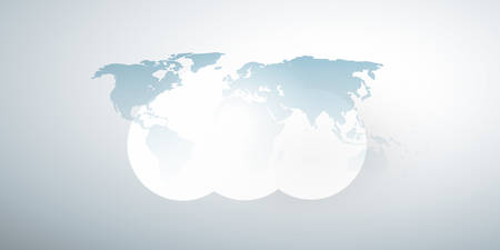 Cloud Computing Design Concept - Digital Technology Background with World Map