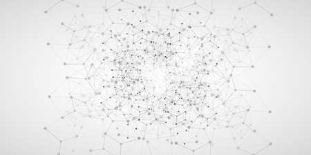 Cloud Computing and Global Networks Concept Design with Geometric Network Mesh