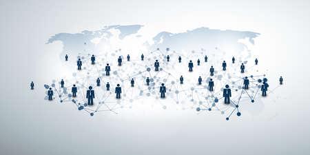 Networks - Business Connections - Social Media Concept Design Ilustração