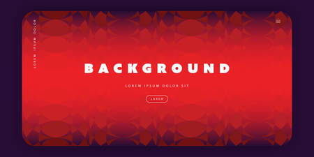 Abstrakte Hintergrundvorlage, Verlaufstextur, Poster oder Landing Page Base Design mit rotem dreidimensionalem Muster - Vektorillustration Vektorgrafik