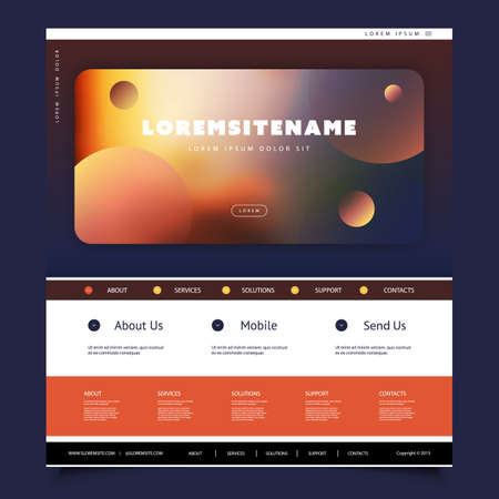 Colorful Website Template for Your Business with Abstract Header Design
