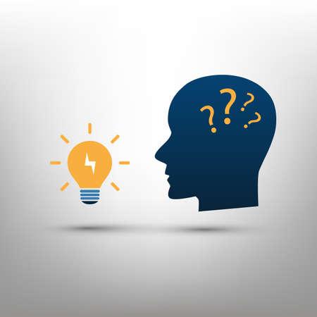 New Possibilities, Opportunities, Ideas - Vector Illustration of Idea Symbol, Icon Concept Creative Design