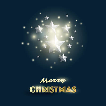 Merry Christmas, Happy Holidays Greeting Card Foto de archivo - 133418313