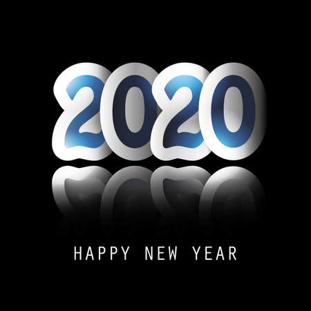 Best Wishes - Dark New Year Greeting Card or Background Design - 2020