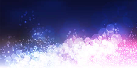 White, Purple and Dark Blue Header, Card, Poster Background for Christmas, New Year, Winter Holiday Designs