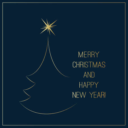Seasons Greetings, Christmas and New Year Card Design Template 일러스트