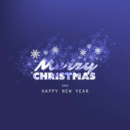 Merry Christmas, Happy Holidays Greeting Card 일러스트