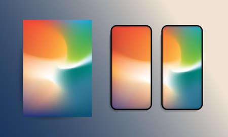 Abstract Wallpaper Design for Smart Phone or Tablet - Modern Progressive Colorful Background Template -   Vector Illustration Ilustrace