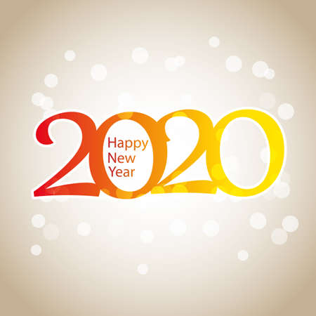 Sparkling Colorful New Year Card, Cover or Background Design Template - 2020 Vektorové ilustrace