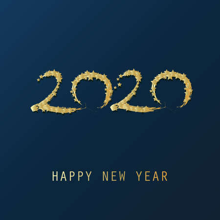 Happy New Year Card, Flyer or Cover Design - 2020 일러스트