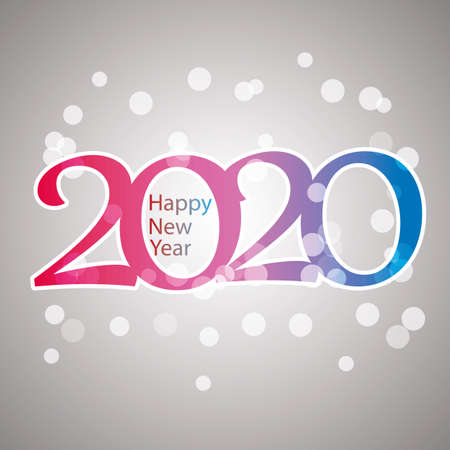 Sparkling Colorful New Year Card, Cover or Background Design Template - 2020 일러스트
