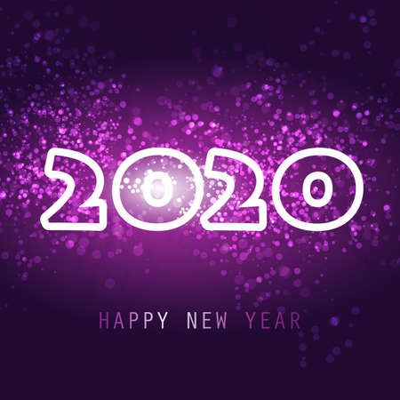 Best Wishes - New Year Card, Cover or Background Template, 2020 일러스트