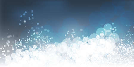 White and Blue Header, Card, Poster Background for Christmas, New Year, Winter Holiday Designs